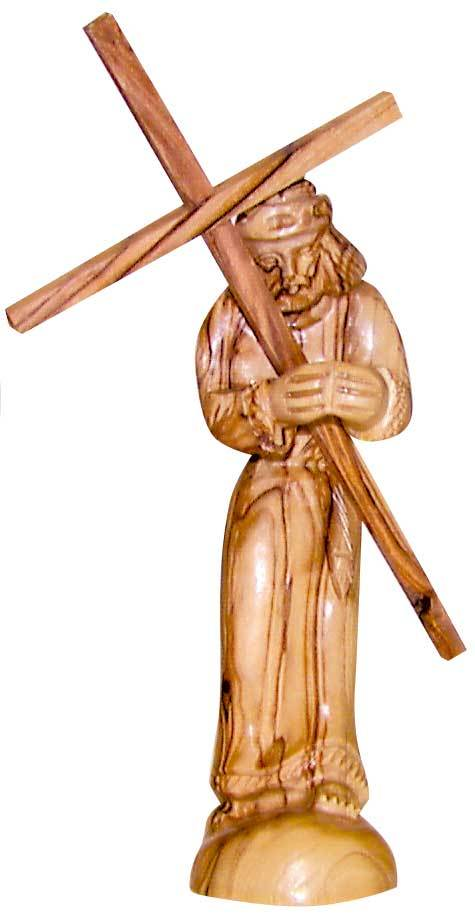 Jesus Carries His Cross (Olive Wood)