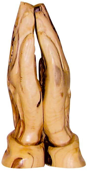 Praying Hands Olive Wood