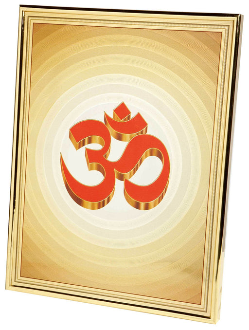 Gold Framed Aum Picture