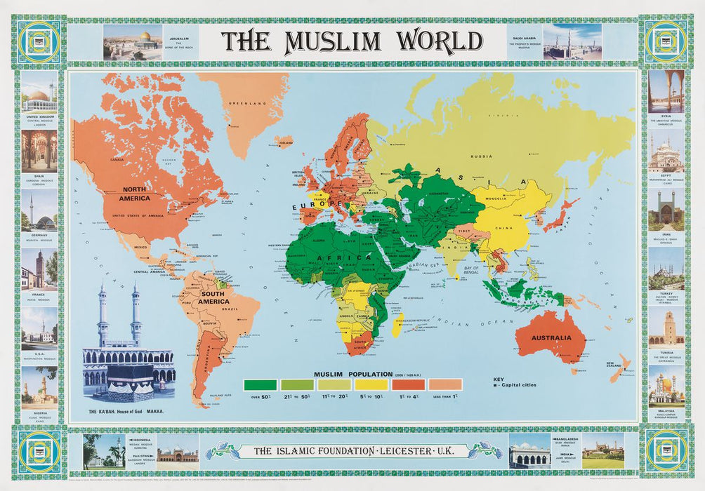 Map of Muslim World Poster