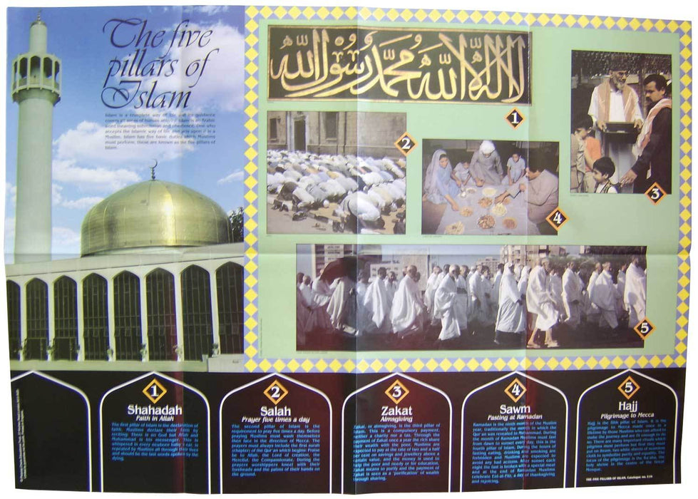 Five Pillars of Islam Pictorial Chart