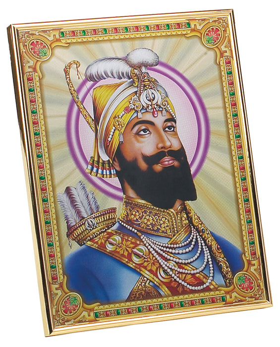 Aluminium Framed Picture of Guru Gobind Singh