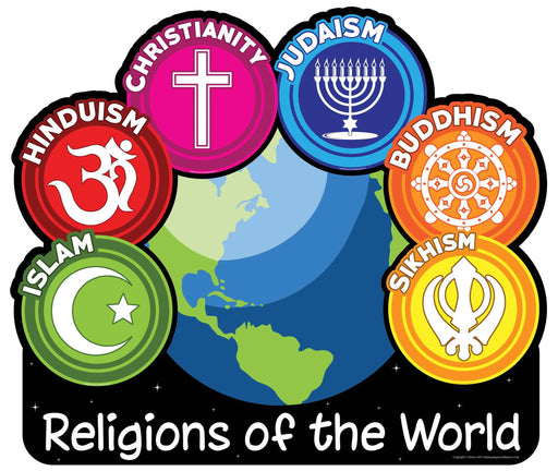 Religions of the World Sign Globe Design