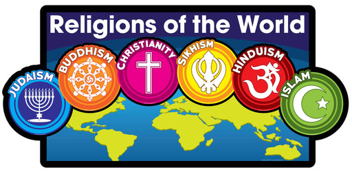 Religions of the World Map Design Sign