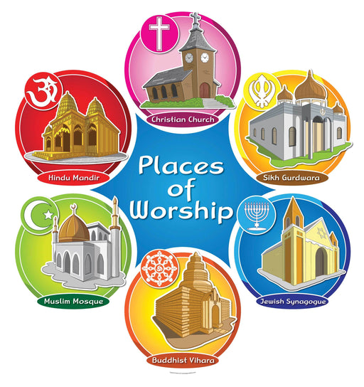 Places of Worship Round Sign