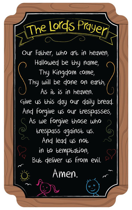 Our Father Chalkboard Sign
