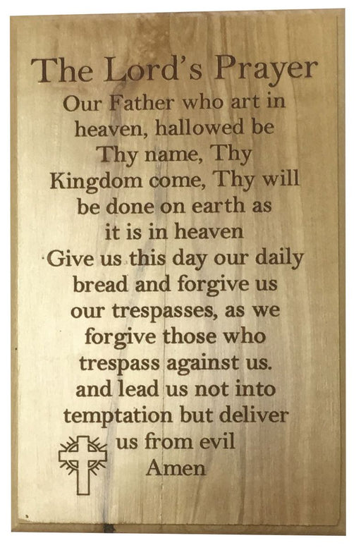 Lord's Prayer Plaque
