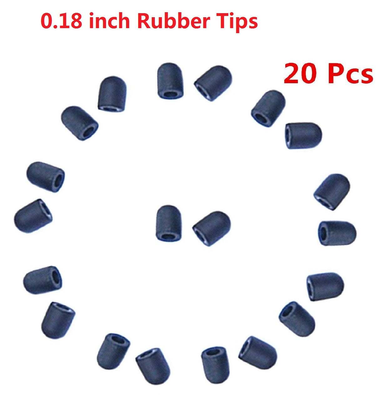 "Replacement 0.18"" and 0.24"" Soft Rubber Tips"
