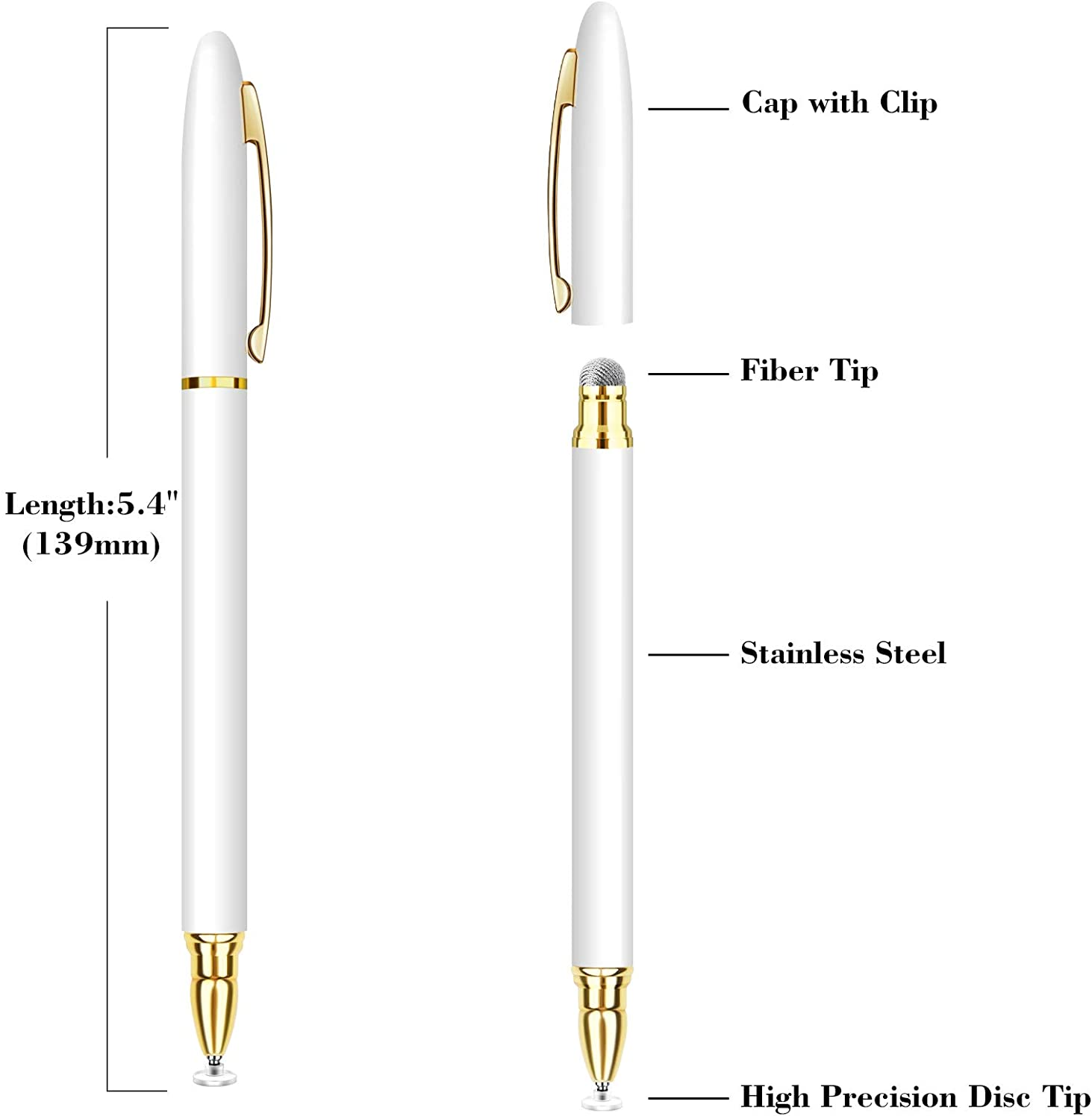 2-in-1 Stylus Universal Touch Screen Pen Business Stylus