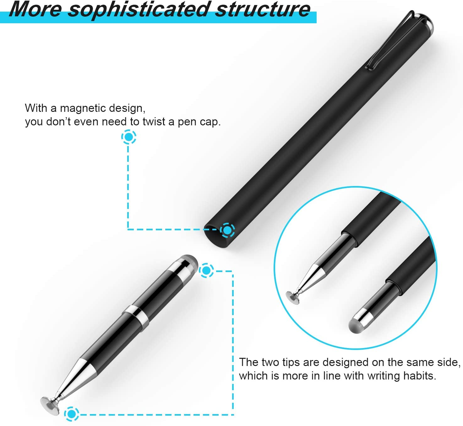 2020 Newly Designed Exclusive 2-in-1 Universal Ballpoint Disc Stylus Touch Screen Pens