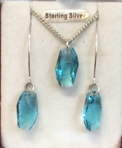 Sterling Silver Pendant & Earring Set