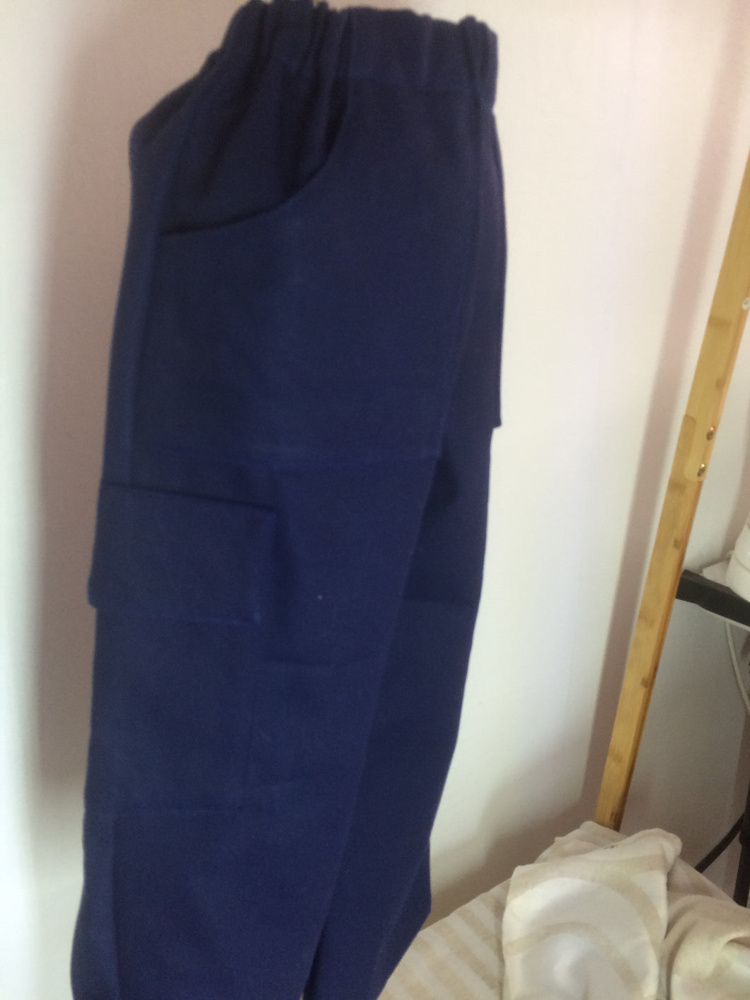 Cargo Pants - Blue Cotton