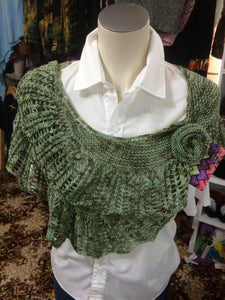 Shawl with Brooch - Green