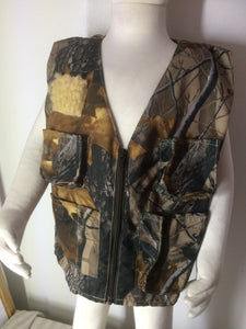 Boys Fishing Vest- Brown Camo