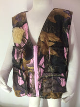 Girls Fishing Vest- Pink Camo