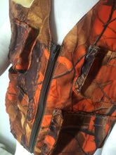Boys Fishing Vest- Orange Camo