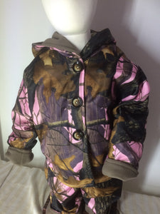 Girls polar fleece Jacket - Pink Camo