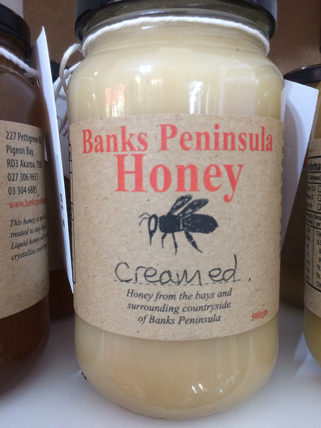 Banks Peninsula honey - Creamed