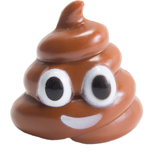 Happy Poo Emoji figurine inside Choco Treasure Emoji Surprise eggs