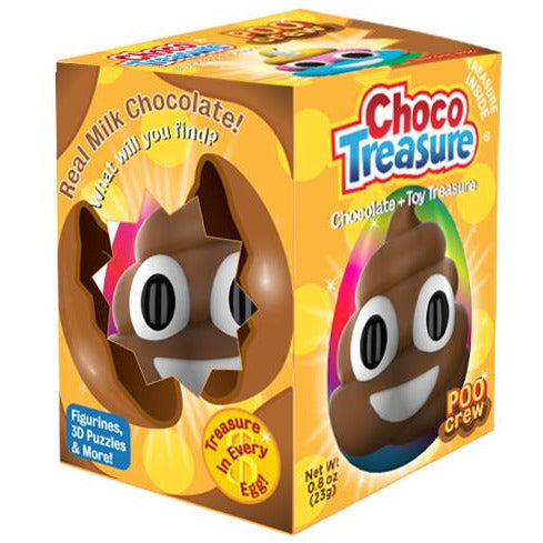 Choco Treasure Poo Crew Surprise Eggs | Tray of 12
