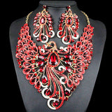 Crystal Indian Bridal Jewelry Sets Peacock jewellery
