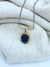 Load image into Gallery viewer, Nora Amethyst Druzy Necklace