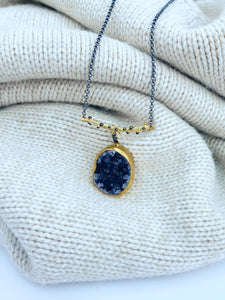 Nora Amethyst Druzy Necklace
