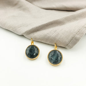 Agate Earrings with French Clips