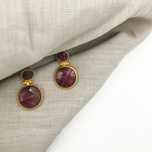 Load image into Gallery viewer, Dangley Agate Earrings