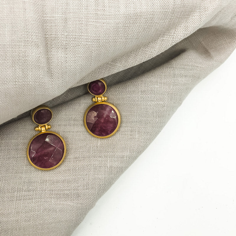 Dangley Agate Earrings