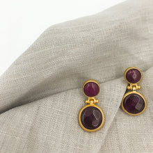 Load image into Gallery viewer, Dangley Agate Earrings Small