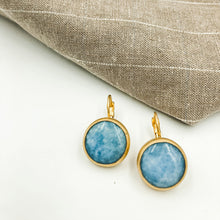 Load image into Gallery viewer, Agate Earrings with French Clips