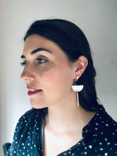 Load image into Gallery viewer, Half Moon Dangley Earrings