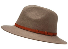 Load image into Gallery viewer, Wool Panama Hat with Vegan Leather Belt