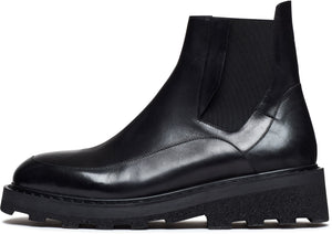 Tacit Leather Boots