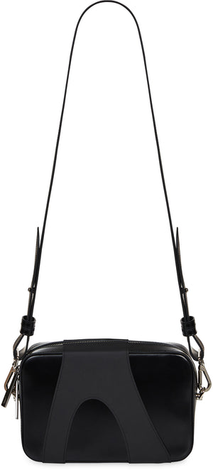 Overlay Leather Cross Body Bag
