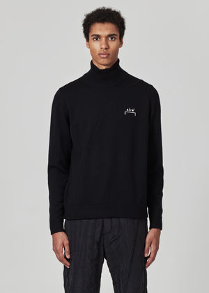 Merino Knit Logo Turtleneck
