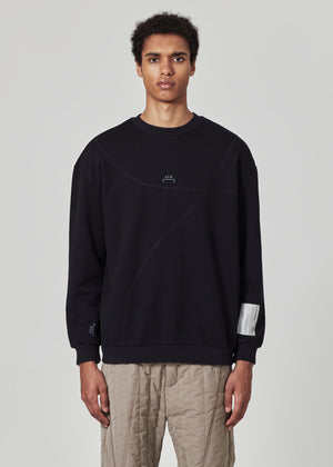 Overlocked Bracket Crewneck
