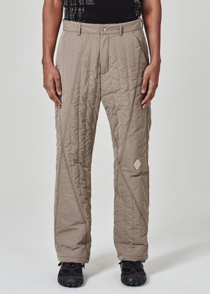 Asymmetric Quilted Trouser