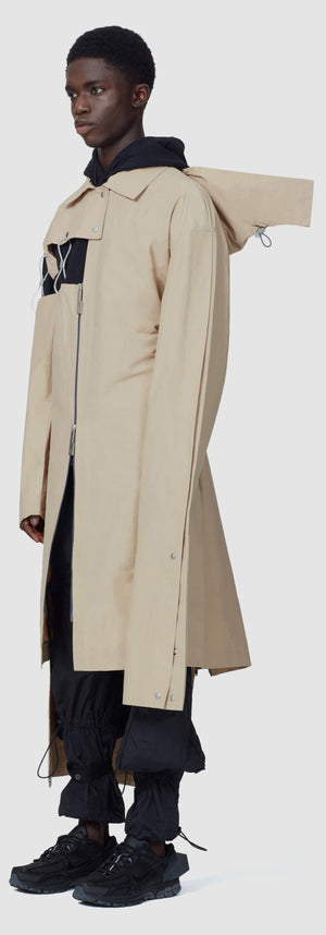 Oversized Cable Loop Raincoat - Sandstone A-COLD-WALL* (ACW)