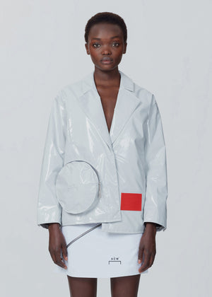 Laminated Nylon Asymmetrical Coat - White A-COLD-WALL* (ACW)