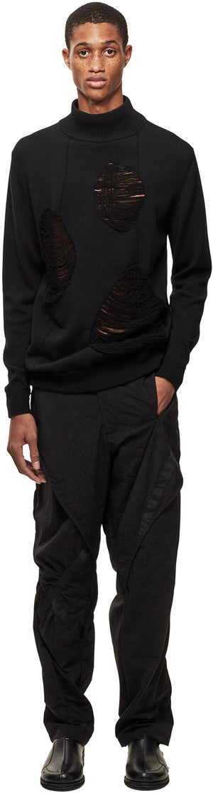 Dual Gauge Roll Neck Knit