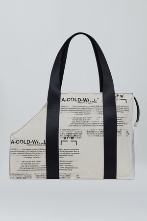 Text Print Tote Bag - Tan A-COLD-WALL* (ACW)