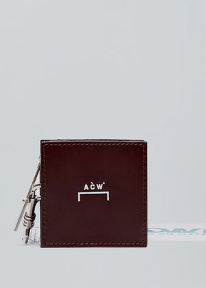Leather Box Coin Pouch - Merlot A-COLD-WALL* (ACW)