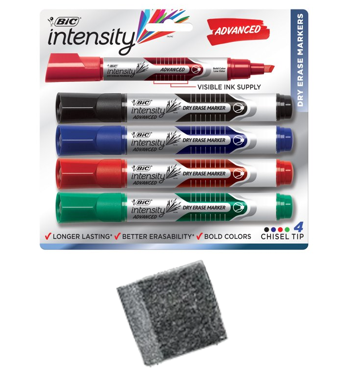 Bic Intensity Advanced Markers and Eraser