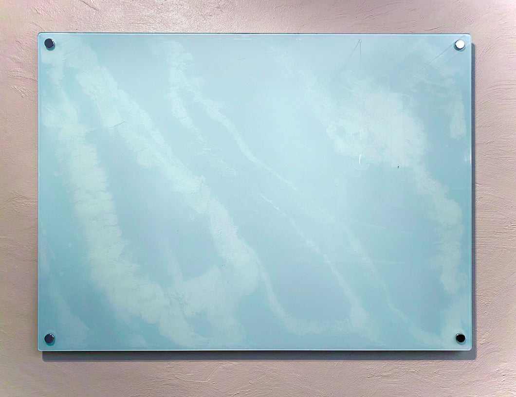 Glacier Board Glass Dry Erase Board, Sky Blue, 45*33 Inches