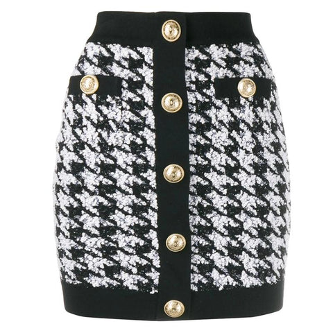 CROATIA BLACK AND WHITE SKIRT