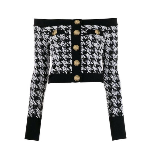 CROATIA BLACK/WHITE SWEATER