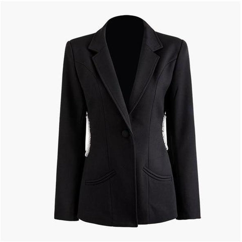 CUTOUT BLAZER BLACK