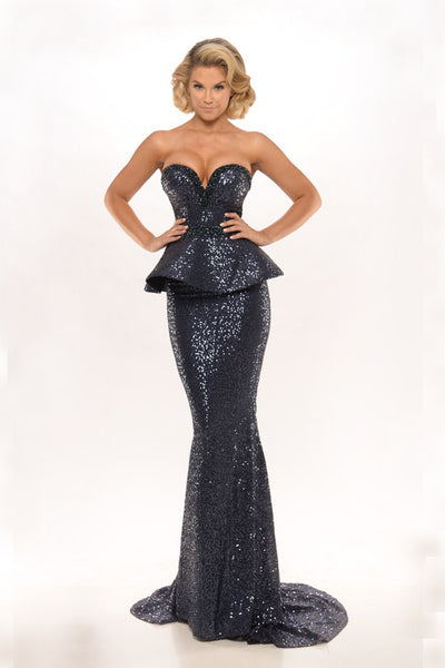 DIAMOND GOWN 11 NAVY